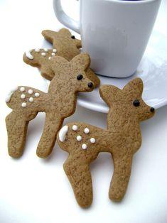 The cutest reindeer cookies ever! Gingerbread Deer Cookies  Christmas by pfconfections on Etsy, $14.00