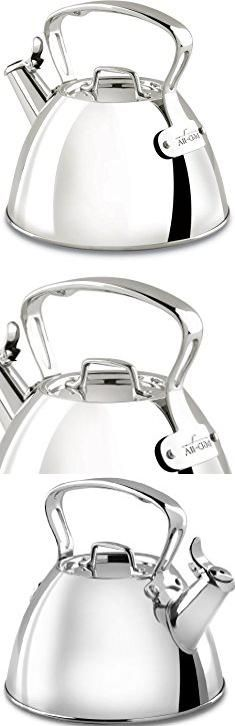All Clad Kettle. All-Clad E86199 Stainless Steel Specialty Cookware Tea Kettle, 2-Quart, Silver.  #all #clad #kettle #allclad #cladkettle
