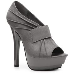Michael Antonio Kim Pump - Grey ($45) ❤ liked on Polyvore featuring shoes, pumps, heels, boots, grey, summer boots, high heel platform shoes, grey pumps, high heel court shoes and high heel shoes