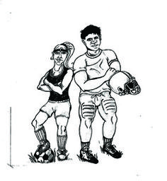 Caricature of Personal-Foul Mascots