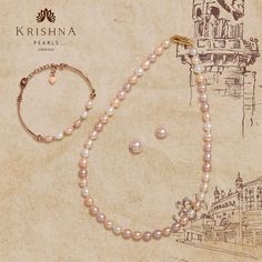 Product Code:JSBR0251,JPCR0226 Contact us on +91 9248036721. #krishnapearls #krishnapearlsjubileehills #pearlbracelets #pearlnecklaces #pearlbracelet #pearlnecklaceset #pearlsbracelet #pearlnecklace #pearlstrings #pearlnecklacedesigns #pearlnecklaceph #freshwaterpearls #studs #pearlsets #pearlstuds #freshwaterpearlnecklace #originalpearls #freshwaterpearlearrings #naturalpearls #purepearls #originalpearl #cityofpearls #hyderabadipearls #pearldesigns #nizamipearls Pearl Necklace Designs, Pearl Necklace Set, Pearl Set, Freshwater Pearl Necklaces, Pearl Bracelet, Pearl Studs, Krishna, Hoop Earrings, Rose Gold