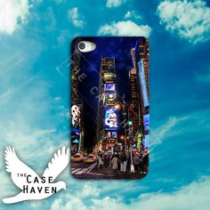 NYC strip sky line colorful Custom iPhone Case for by TheCaseHaven, $14.99