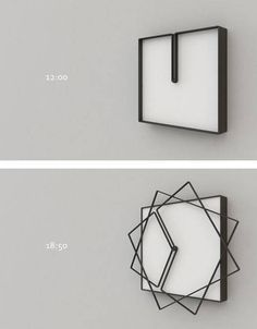 horloge originale idee deco home maison How cool is this clock? Deco Design, Design Case, Design Design, Design Trends, Cadre Design, Cool Clocks, Cool Inventions, Future Inventions, Cool Gadgets