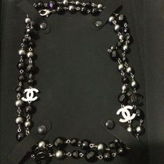 Chanel Black Necklace