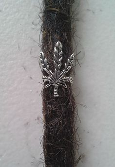 Sterling Silver Dreadlock happy leaf charm   by Dreadscapes, $9.50