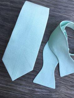 mint bowtie mint wedding boys mint tie men's ties by littlevys