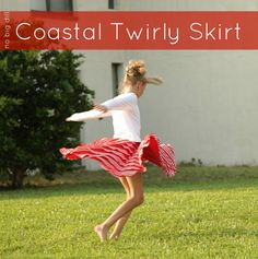 no big dill: Coastal Twirly Skirt Tutorial & Fabric Giveaway  Making these for the girls for Christmas!