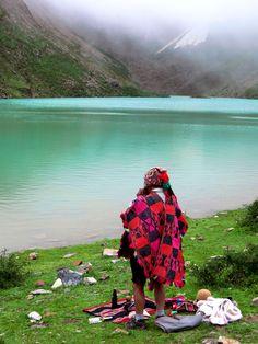 Shaman Ceremony at Glacial Lake, Peru