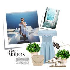 Zestaw z  1 lipiec, składający się m.in. z Sandały Tata Italia, Okulary damskie Jeepers Peepers, Sukienka Guess.  http://allani.pl/profil/helen_rose
