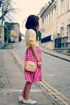 so cute, skirt - blouse yeallow - keds - shoes - burkatron | uk fashion + nail art blog sweet