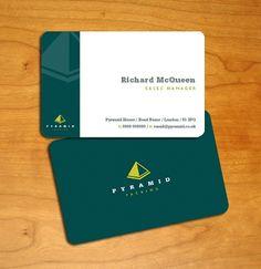 The 24 best business cards uk images on pinterest business cards pyramid packing london business cards uk logo design reheart Images
