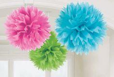 Alma de fiesta: Pompones de papel seda