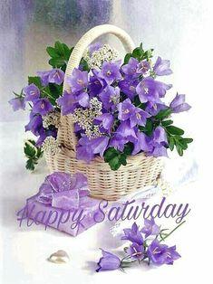 (Russia) Bouquet in basket by Marianna Lokshina. Flowers Garden, My Flower, Purple Flowers, Spring Flowers, Flower Power, Beautiful Flowers, Deco Floral, Arte Floral, Floral Design