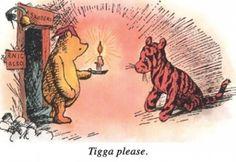 funny winnie the pooh tigger tigga please Winnie The Pooh Drawing, Winnie The Pooh Nursery, Winne The Pooh, Winnie The Pooh Quotes, Winnie The Pooh Friends, Pooh Bear, Tigger, Eeyore, 9gag Funny