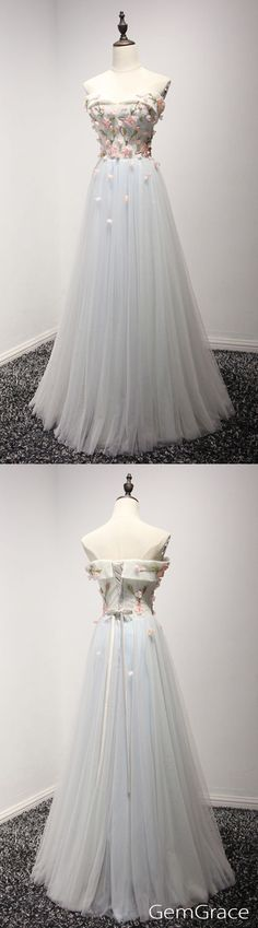 long tulle party dress