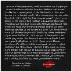 I am not the first person you loved.