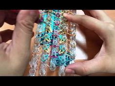 Rainbow Loom - RHYS Bracelet. Designed and loomed by Looming Roach. Click photo for YouTube tutorial. 09/02/14.