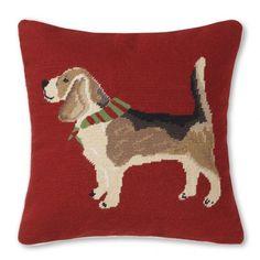 beagle-needlepoint-pillow