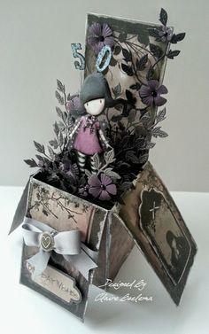 What Shall I Make Today?: Gorjuss Girl 50th Birthday Pop Up Box Card