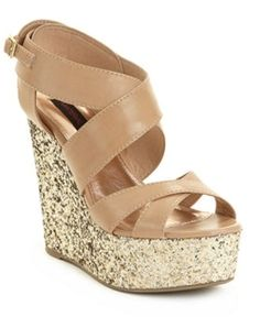 sparkly wedges? haha maaaaybe  http://happiestaretheprettiest.tumblr.com/