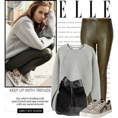 ways to wear sneakers this fall by lisamichele-cdxci on Polyvore featuring Alexander Wang, H&M, Giuseppe Zanotti, Linea and Erdem