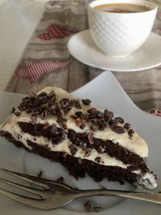 Cizrnové brownies s pudinkovo tvarohovým krémem