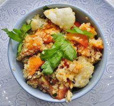 Sweet Potato Quinoa Salad. Nutrient packed salad for a major vitamin and mineral boost! #vegan #glutenfree #recipe
