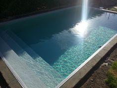 Zwembad met liner Elbe Grijs