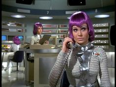 Shado Moonbase, Space Girl, Purple Hair, Silver Clothing, Retro-Futuristic, Sci-Fi Girl, Futuristic Look