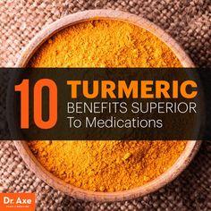 Turmeric Benefits Reported to be better than MEDS: Anti-inflammatory drugs Anti-depressants (Prozac) Chemotherapy Anti-coagulants (Aspirin) Pain killers Diabetes drugs (Metformin) Arthritis medications Inflammatory bowel disease drugs Cholesterol drugs (L Curcumin Benefits, Turmeric Curcumin, Turmeric Herb, Tumeric Hair, Turmeric Health, Arthritis Remedies, Health Remedies, Arthritis Symptoms, Arthritis Relief