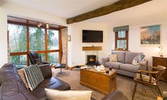 Welcome to Drystones in Grasmere. Book your holiday in the Lakes online with Lakelovers today. Cumbria, Luxury Apartments, Lake District, Lakes, Cottage, Windows, Curtains, Holiday, Book