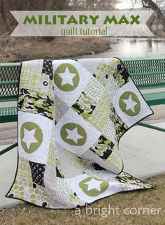 Free quilt tutorial  - great basic quilt and easy to add any applique shape to the empty squares!
