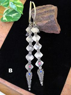 Kuchi Tribal Jewelry Spear Earrings