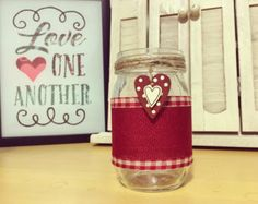 Valentine mason jars Heart mason jars Valentines di QUEENBEADER