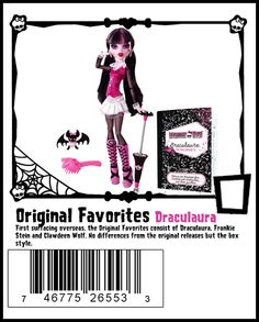 Wave 1 Draculaura 2013 Rerelease - New box style