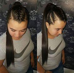 Braid Styles, Ideas Para, Braided Hairstyles, Braids, Dreadlocks, Beauty, Amor, Girls Braids, Bang Braids