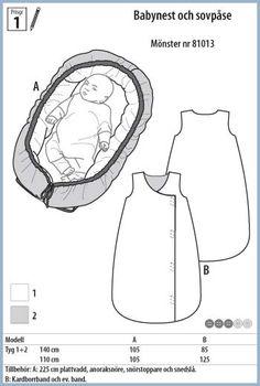 Stoff & Stil - Babynest och sovpåse - 81013