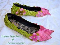 disfraz de hada diy - zapatos de hada