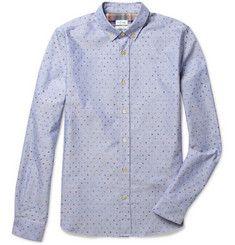 candy dots!  Paul Smith Polka-Dot Cotton Oxford Shirt | MR PORTER