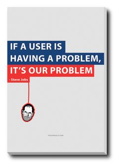 Buy Canvas Art Prints Home Decor India | Steve Jobs User Problem Stretched Canvas Print | PosterGully
