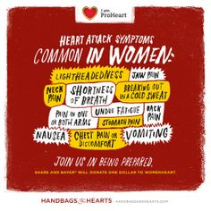 Carrying Bayer® Aspirin in your handbag could save someone's life during a heart attack. Join Bayer in being prepared. Learn more about heart attack preparedness at HandbagsandHearts.com.