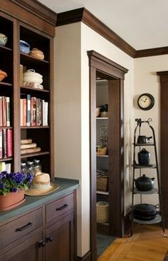 Like: crown molding and door frame work  Dislike: dark color