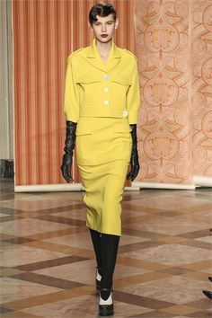 Antonio Marras - Collections Fall Winter 2013-14 lemon suit with military style jacket