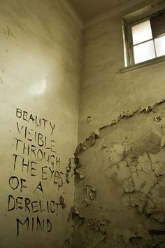 """""""Beauty visible through the eyes of a derelict mind""""- Children's Hospital- Durban, South Africa Abandoned Asylums, Abandoned Buildings, Abandoned Places, Mental Asylum, Insane Asylum, Bg Design, Abandoned Hospital, Haunted Places, American Horror Story"""