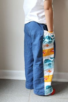 So cool--treasure pocket pants (from the book Sewing for Boys)
