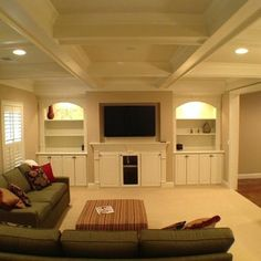 Basement ideas- like the built ins