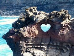 Ocean Arch Heart in Maui, Hawaii  The natural earth has many beautiful things to see if we only look for them