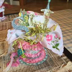 Have a Daily Cup of Mrs. Olson-Peet Pot Spring Basket