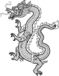 free printable dragon mandala coloring page - Google Search