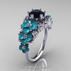 Nature Classic 14K White Gold 1.0 Ct Black and White by artmasters, $1799.00